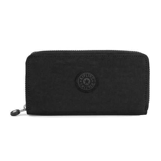 Jessi Large Zip Around Wallet,Black Tonal,large