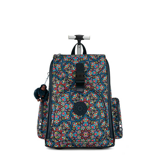 Alcatraz II Printed Rolling Laptop Backpack,Sunshine burst,large