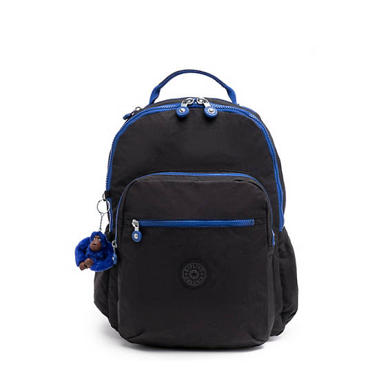 Seoul Go Large Laptop Backpack,Black and Blue,large