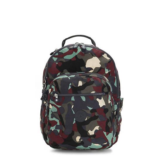 "Seoul Large 15"" Laptop Printed Backpack,Camo,large"