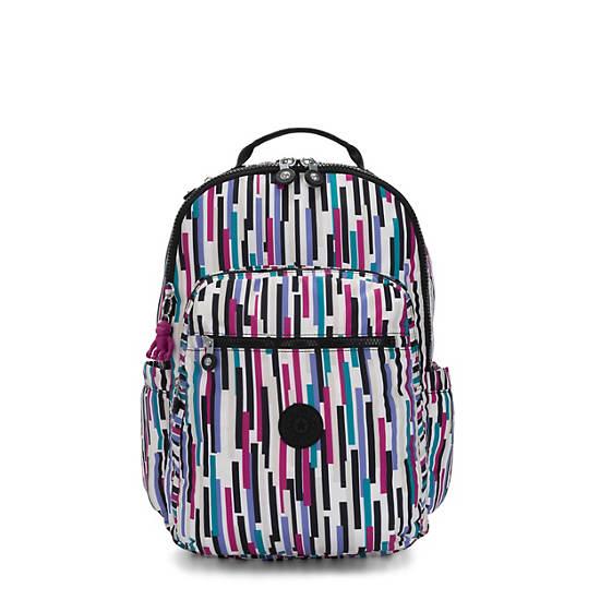 """Seoul Large Printed 15"""" Laptop Backpack, Urban Stripe, large"""