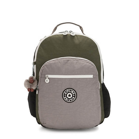 "Seoul Go Extra Large 17"" Laptop Backpack,Jaded Green Color Block,large"