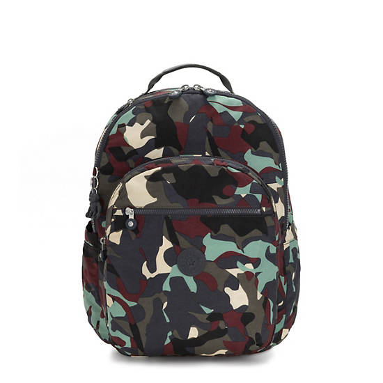 "Seoul Extra Large 17"" Laptop Backpack,Camo,large"