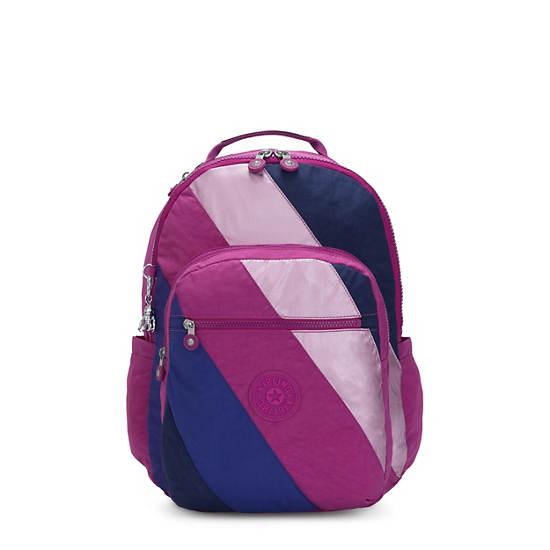 "Seoul Large 15"" Laptop Backpack, Pink Mix Block, large"