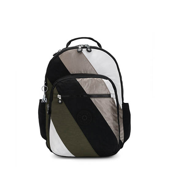 "Seoul Large 15"" Laptop Backpack,Black Mix Block,large"