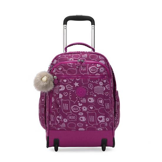 Gaze Large Printed Rolling Backpack,Statement,large