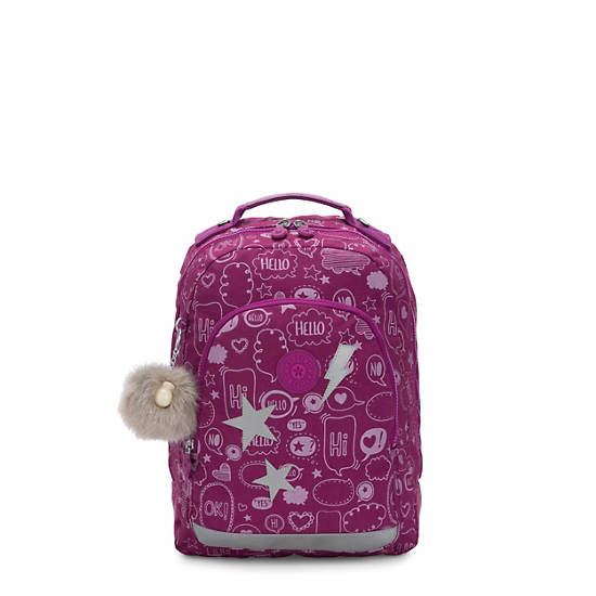 """Class Room Small Printed 13"""" Laptop Backpack,Statement,large"""