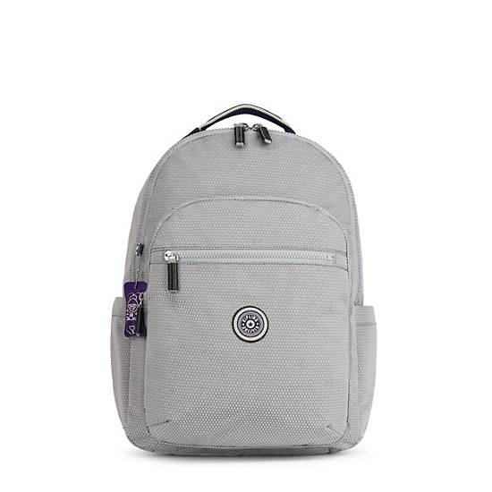 "Seoul Large 15"" Laptop Backpack, Grey Ripstop, large"
