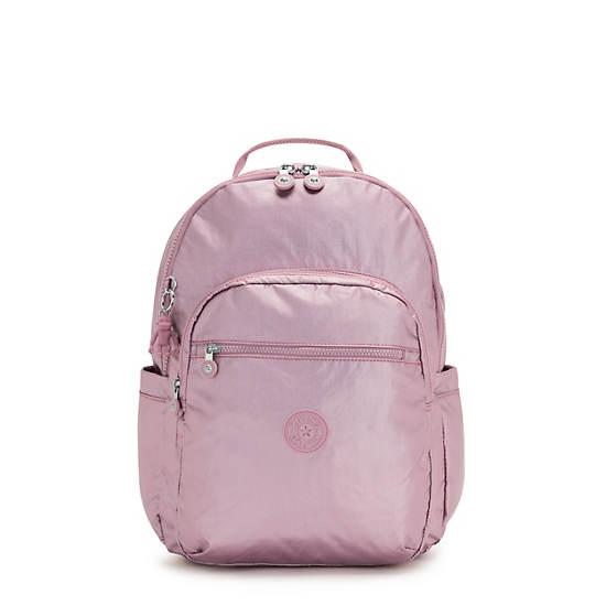 """Seoul Large Metallic 15"""" Laptop Backpack, Posey Pink Metallic, large"""