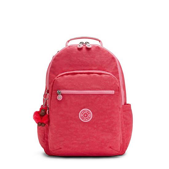"""Seoul Large 15"""" Laptop Backpack, Fuchsia Glitter, large"""