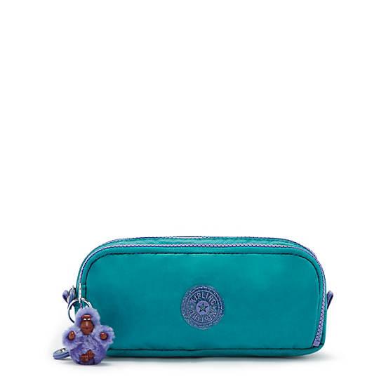 Gitroy Pencil Case, Fresh Turquoise, large