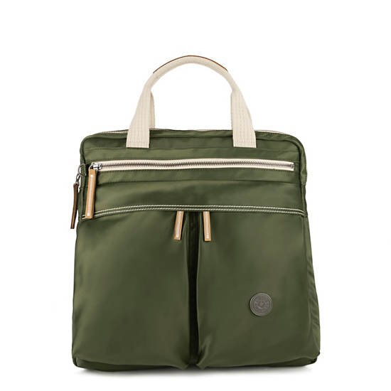 Komori Small Tote-Backpack,Elevated Green,large