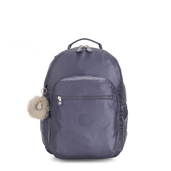 """Seoul Large 15"""" Laptop Metallic Backpack,Enchanted Purple Metallic,large"""