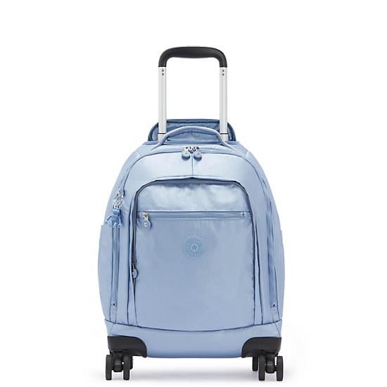 "Zea Metallic 15"" Laptop Rolling Backpack, Bubble Blue Metallic, large"