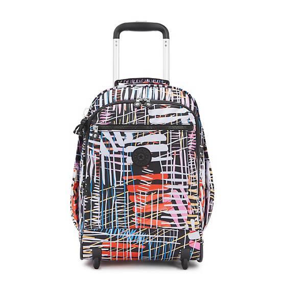 Gaze Large Printed Rolling Backpack,Soft Stripes,large
