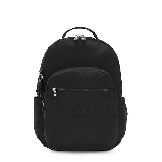"Seoul Extra Large 17"" Laptop Backpack, Black Noir, large"