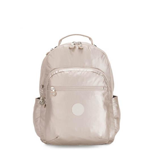 """Seoul Large Metallic 15"""" Laptop Backpack, Metallic Glow, large"""