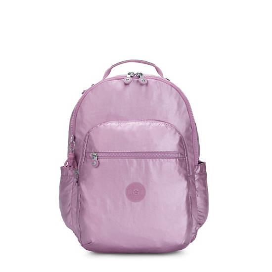 """Seoul Large Metallic 15"""" Laptop Backpack,Metallic Berry,large"""