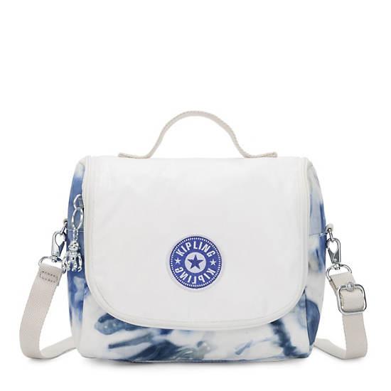 Kichirou Tie Dye Lunch Bag, Tie Dye Blue Lacquer, large