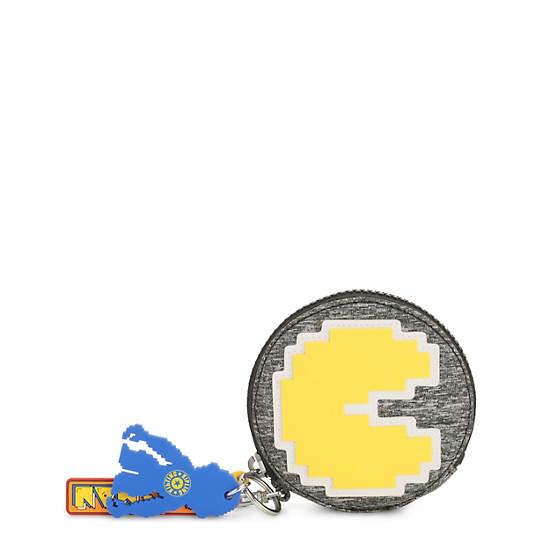 Pac-Man Marguerite Zip Pouch,Melange Grey,large