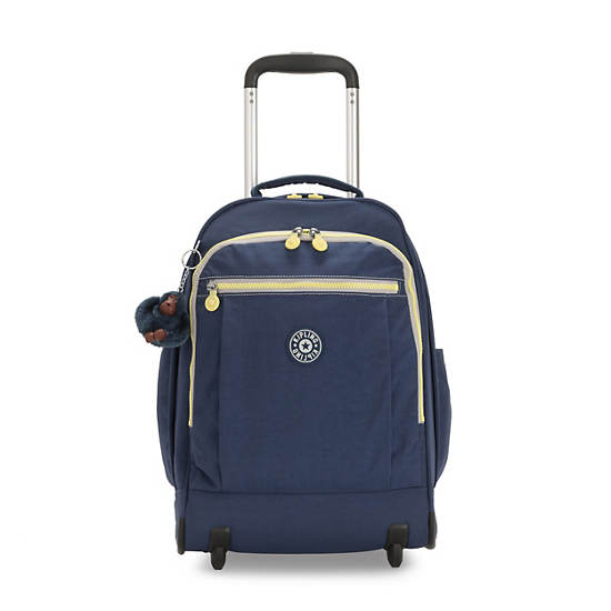 "Gaze Large 15"" Laptop Rolling Backpack,Blue Thunder,large"