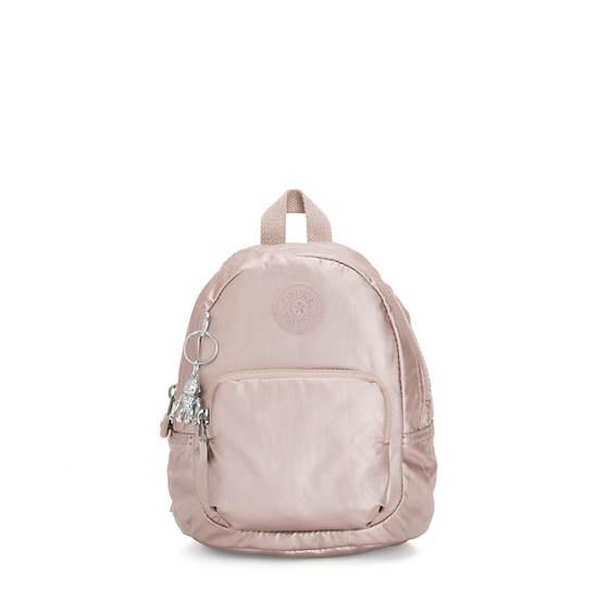 Glayla Convertible Metallic Mini Backpack,Metallic Rose,large
