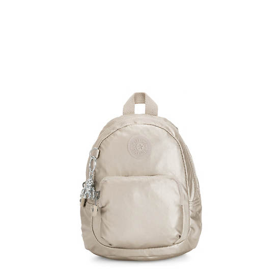 Glayla Convertible Metallic Mini Backpack,Cloud Metallic,large