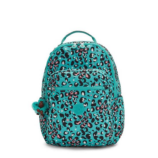 "Seoul Large Printed 15"" Laptop Backpack, Leopard Flower, large"