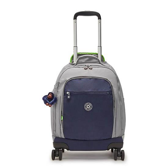 "Zea 15"" Laptop Rolling Backpack, Playful Grey, large"