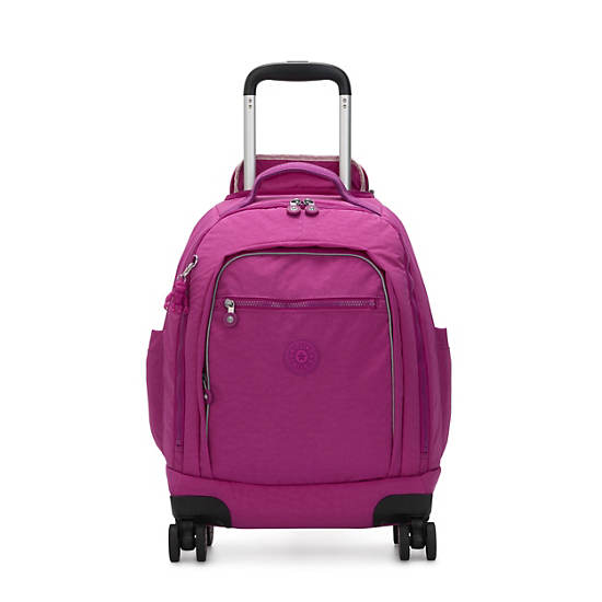 """Zea 15"""" Laptop Rolling Backpack,Bright Pink,large"""