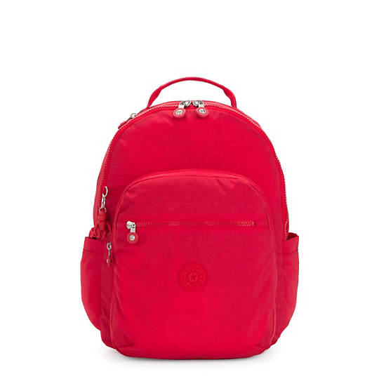"""Seoul Large 15"""" Laptop Backpack,Red Rouge,large"""