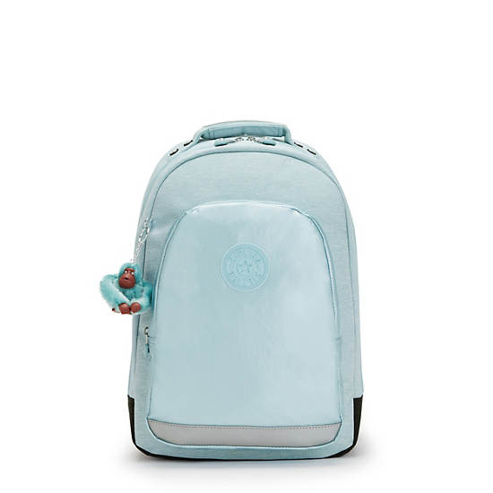 """Class Room 17"""" Metallic Laptop Backpack, Airy Jeans, large"""