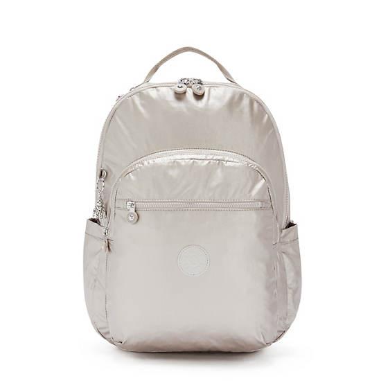 """Seoul Extra Large Metallic 17"""" Laptop Backpack, Metallic Glow, large"""