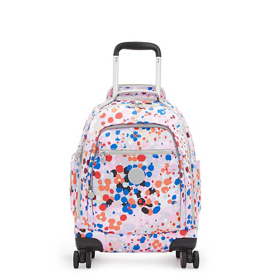 "Zea Printed 15"" Laptop Rolling Backpack, Dotty Splash, large"