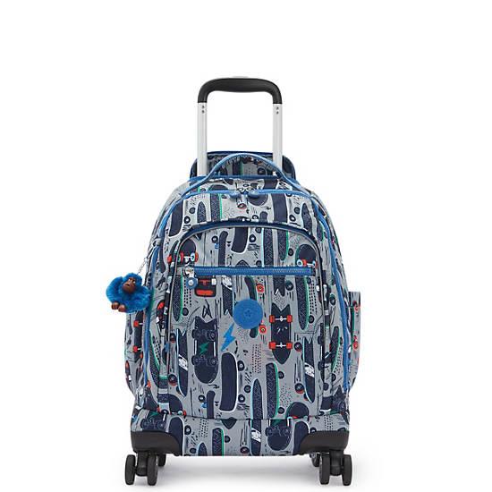 "Zea Printed 15"" Laptop Rolling Backpack,Skate Print,large"