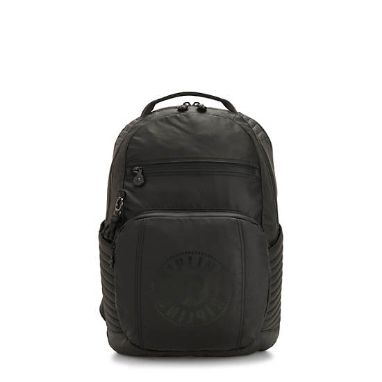Troy Extra Large Laptop Backpack,Raw Black,large