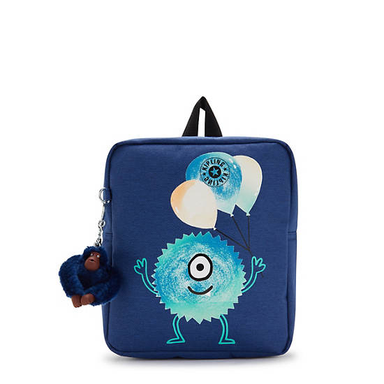 Soo Toddler Small Backpack, Denim Todd, large