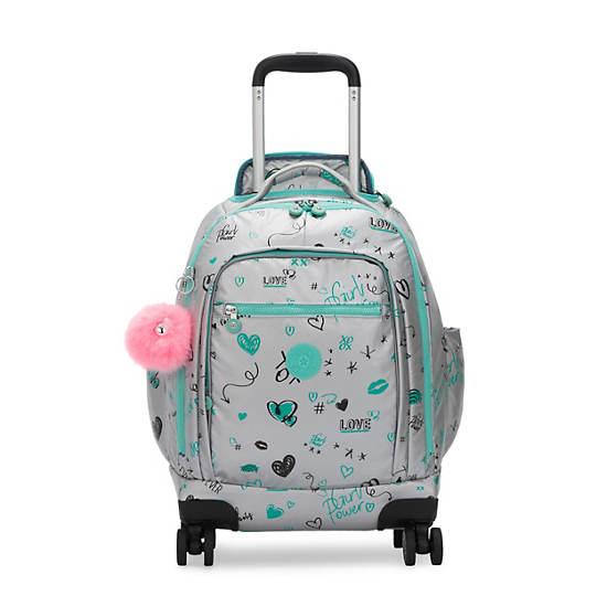 "Zea Metallic 15"" Laptop Rolling Backpack,Metallic Doodle,large"