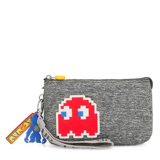 Pac-Man Creativity Extra Large Wristlet,Melange Grey,large