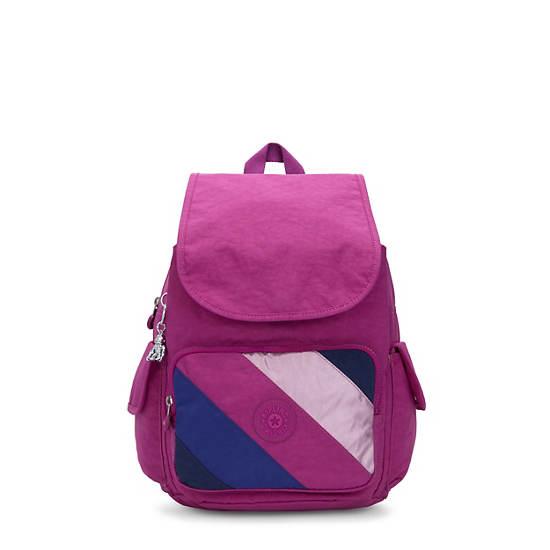 City Pack Medium Backpack, Pink Mix Block, large