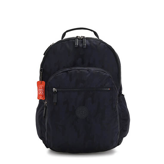 Seoul Extra large Laptop Backpack,Blue Camo,large