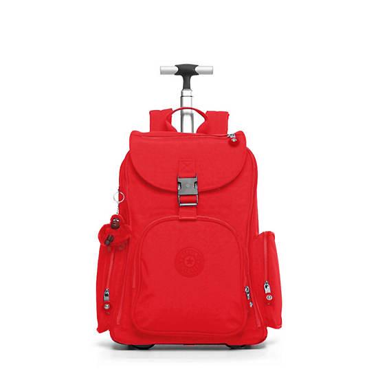 Alcatraz II Large Rolling Laptop Backpack,Cherry Tonal Zipper,large