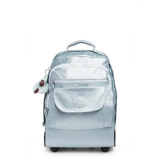 Sanaa Large Metallic Rolling Backpack,Arctic Metallic,large