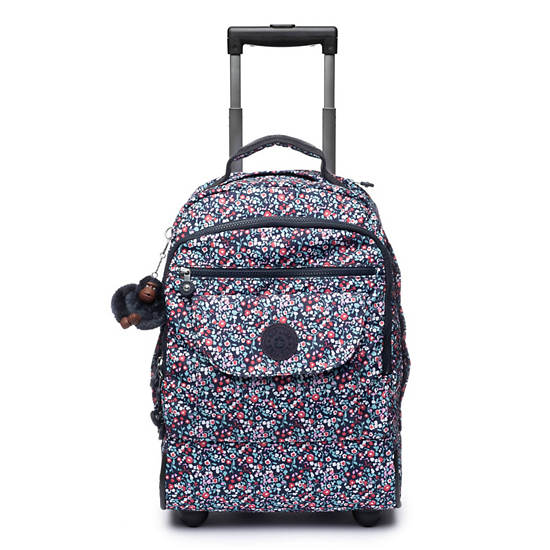 Sanaa Large Printed Rolling Backpack,Glistening Poppy  Blue,large