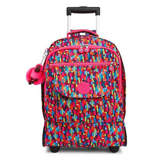 Sanaa Large Printed Rolling Backpack,Blooming Geo,large
