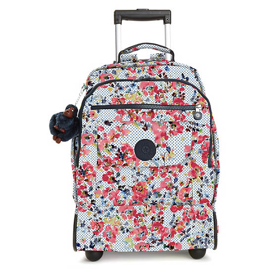 Sanaa Large Printed Rolling Backpack,Busy Blossoms,large