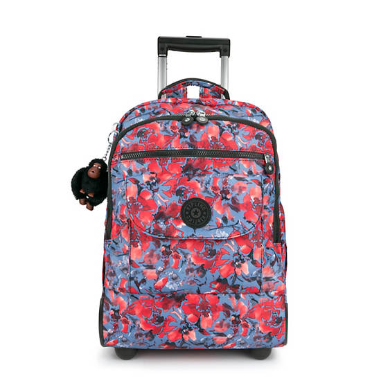 Sanaa Large Printed Rolling Backpack,Festive Floral,large