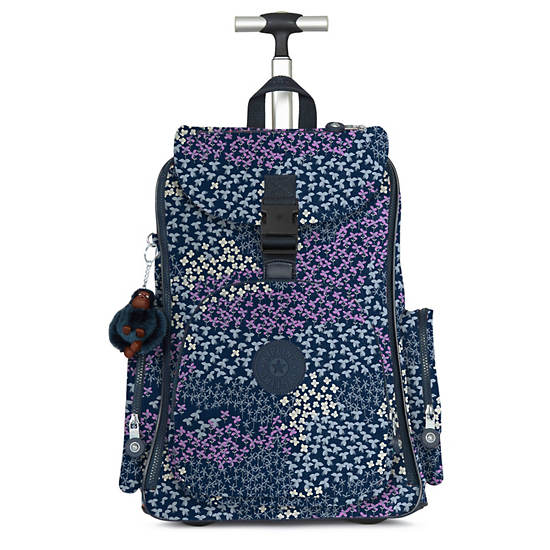 Alcatraz II Printed Rolling Laptop Backpack,Dotted Bouquet,large