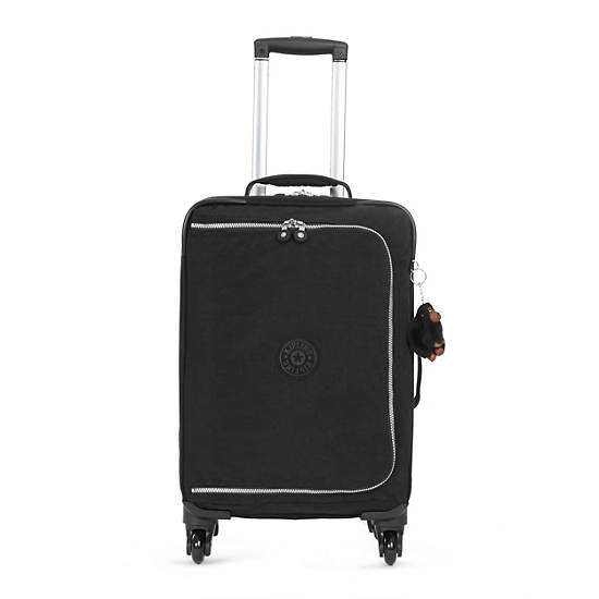 Cyrah Small Carry On Rolling Luggage,Black,large