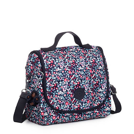 Kichirou Printed Lunch Bag,Glistening Poppy  Blue,large